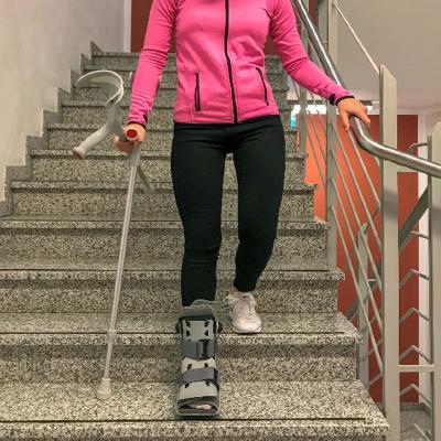 Ohne krücken treppensteigen belastung mit Wie lange
