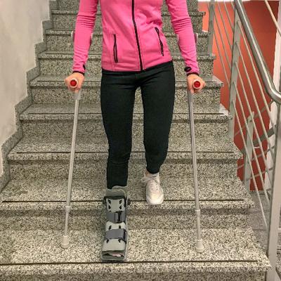 Ohne krücken belastung mit treppensteigen Krücken benutzen: